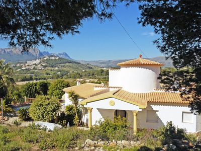 Photo for Calpe: Ideal villa for children with private pool, free wifi and mountain views