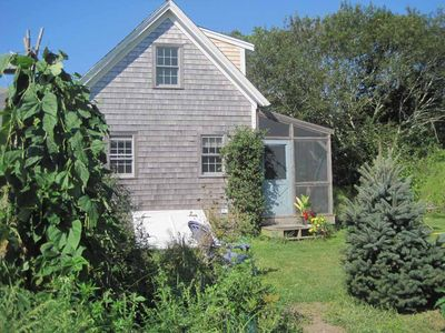 Cottage from side yard and garden