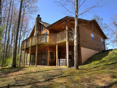 Photo for Amazing, private 4BR cabin with Video Arcade games, bunks, pool table, & more