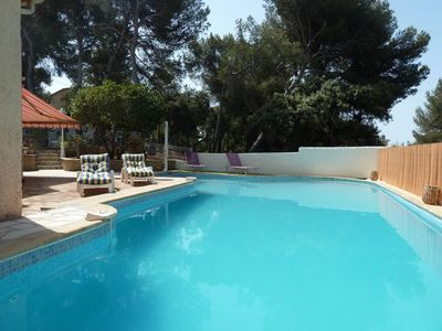 Photo for House large swimming pool, beach and port of Sanary on foot