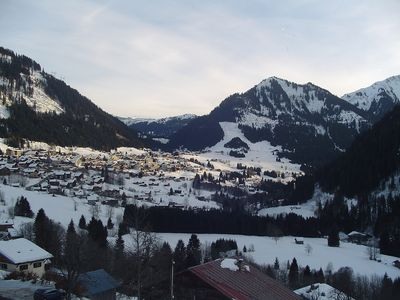 view towards chatel from balcony