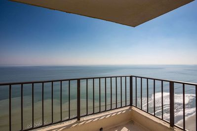 Commanding ocean view from this 16th floor corner balcony