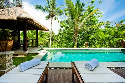 View from the sun loungers