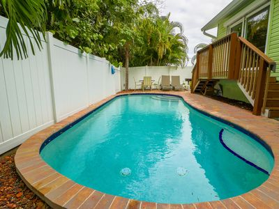 Photo for Two family-friendly cottages with two private lagoon pools, dogs okay!