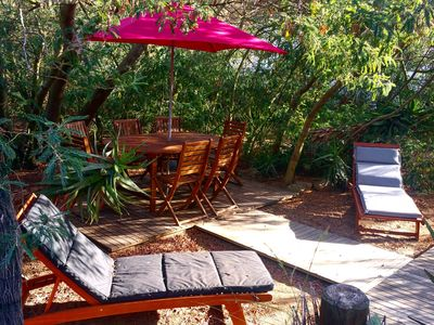 Photo for Corsican house 80m ², 200m from the beach of Calvi, large garden with trees - Casa Orsoni