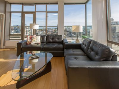 Photo for Stunning Olympic and Inner Harbour Views from 450 sq ft Balcony