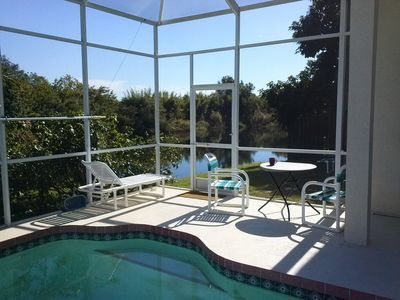 The Private Pool with Pond view