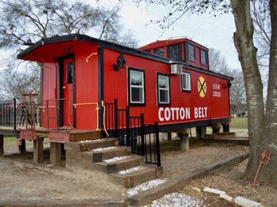 Photo for Water Front 1920's Vintage Cotton Belt Caboose