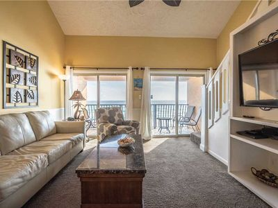 Photo for 47- Can't beat the view in this luxurious BEACH FRONT condo that sleeps 10! Coral Reef Club