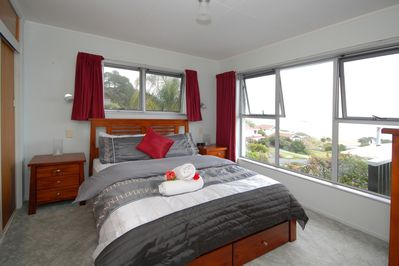 Master bedroom, with views over Doubtless Bay