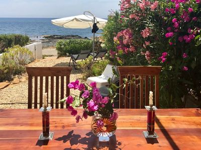 Photo for Beachfront house, in front of the sea, in a quiet village - Wifi