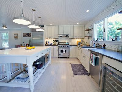 Photo for Gourmet Kitchen, Fire Pit, Heated Pool  Close to Town, Beach, Farms & Wineries