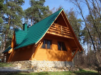Photo for Poland, cozy Holiday / wooden house with lake view, all year round for rest and relaxation