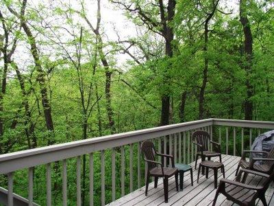 Photo for 2 BR Private Home, Outdoor Hot Tub, Large Deck w/BBQ, Spiral stairs to Loft