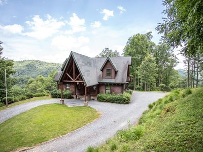 Photo for 5BR Cabin, Views, Hot Tub, Sauna, Game Table, Walk to River, Close to Mast Store, Boone, Banner Elk