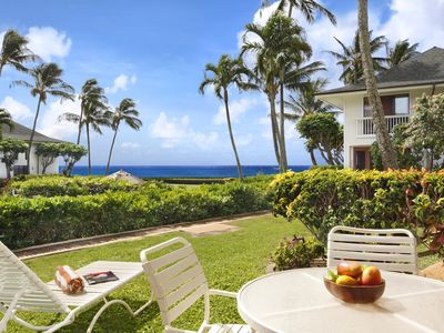 Photo for Poipu Kapili #16: OCEAN VIEWS WITH BEDROOM AC & WALK TO SHOPS & DINING!