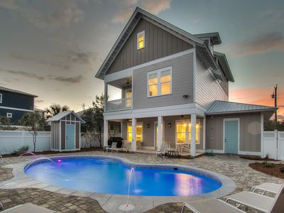 Photo for Large Luxury 30A House + Private Pool + FREE Bikes