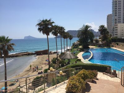 Photo for Apartment in a luxury residence, large sea view terrace and beach access