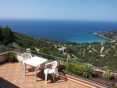 Photo for Villa Nettuno with a breathtaking view of the bay of Torre delle Stelle
