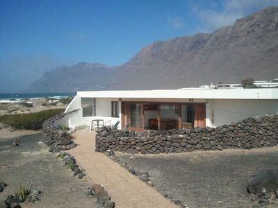 Photo for Bungalow KORITWO in Famara for 6 persons with terrace, garden, views to the ocean, views of the volcanoes, WIFI on the go and less than 500m to the sea
