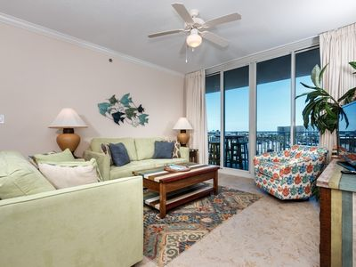 Photo for Beach-chic condo at Waterscape! Free Wi-Fi. Free beach chairs! Waterfall + lazy river on-site!