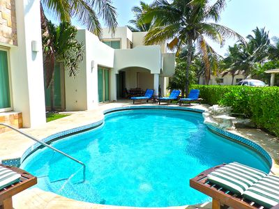 Photo for Luxury Villa! Steps from the Caribbean & Beach Access! Quick walk to town, WiFi!