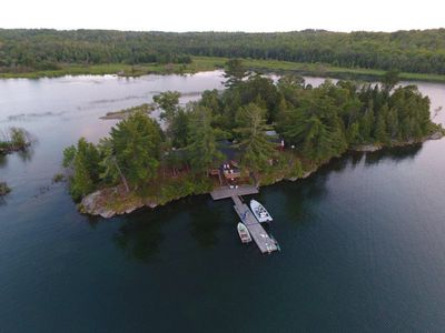 A view of our island wirh a drone