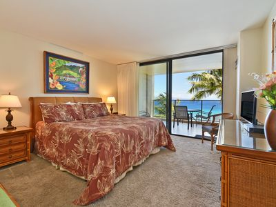 Photo for Sounds of the Ocean will Lull you to Sleep- Mahana 6th Floor-Ocean Front w/AC