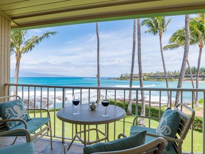 Photo for Romantic Oceanfront Studio with Gorgeous Ocean Views Overlooking Napili Bay
