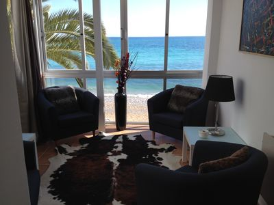 Photo for Luxurious beach apartment with a private beach 'Oden A' in Altea, Spain