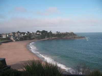 Photo for Quiet apartment, renovated, sea view, 150 m beautiful beach, 10 minutes from St Malo