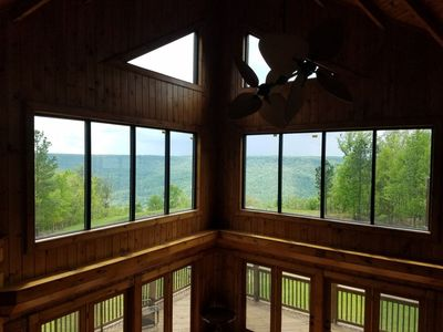 Enjoy the view from everywhere in this lovely cabin!