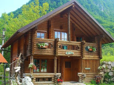 Photo for Eco-friendly chalet with terrace in Soca valley, with lots of activities to do