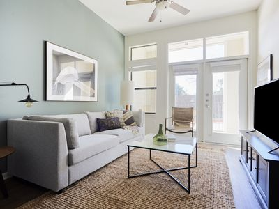 Photo for Sonder | Haven at Main | Charming 1BR + Pool