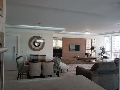 Photo for Large Apartment in the Heart of Meia Praia with Huge Gourmet Balcony and Wi Fi