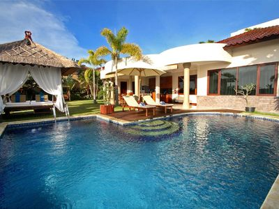Photo for 2 BR Wooden Furnished Villa with Jimbaran Bay View Near GWK Cultural Park