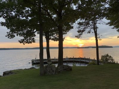 Photo for West Facing Winnipesaukee Waterfront Home -- Private Dock & Amazing Sunsets