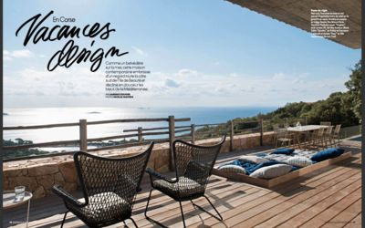 Photo for Contemporary 5 bedroom villa, 180 ° sea view on Palombaggia beach