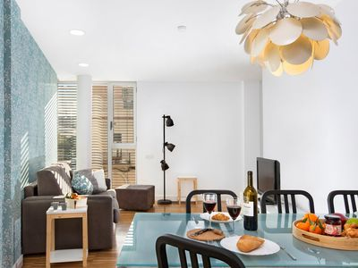 Photo for Spacious beach apartment for families and friends with sunny rooftop