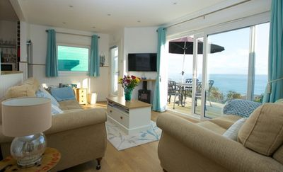 Photo for Seaglass, beautiful villa with spectacular sea views over Wheelers Bay, Ventnor