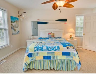 Photo for Beautiful Beach Cottage. Sound Side, walking distance to the Beach.