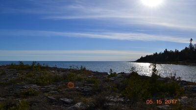 Photo for THE LAZY LOFT -  Knotty pine Cottage, down a 1 min foot path to Lake Huron.