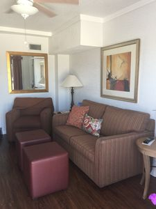 Great living area to enjoy a book or watch tv after the Beach. Sleeper sofa.