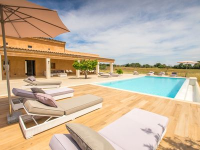 Photo for This 6-bedroom villa for up to 12 guests is located in Inca and has a private swimming pool, air-con