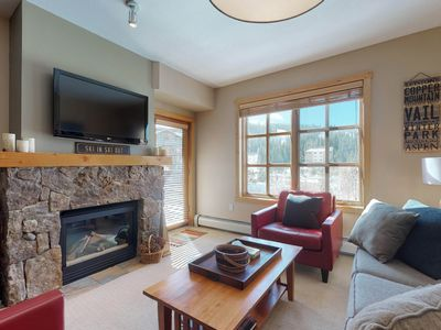 Photo for Walk to slopes-Village condo w/balcony, views & shared hot tubs/gym