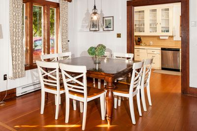 Dining Room - The 8-person dining table is just steps from the kitchen.