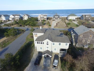 one house to ocean.  Beach access directly across street  Roof has been replaced