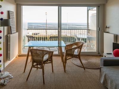 Photo for Benoit La Baule studio apartment terrace facing the sea beach with direct access BEACH