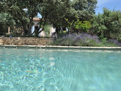 Photo for Provencal house with private pool at the top of the village of Joucas