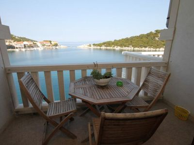 Photo for One bedroom apartment near beach Zaklopatica, Lastovo (A-8346-c)